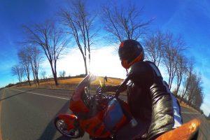 GoPro photo motorbike