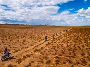 Motorcyclists Gobi Desert