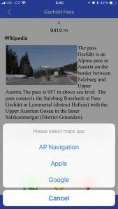 alpine passes screenshot pass description