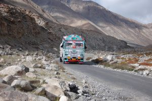 Indian bus mountains