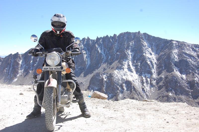 Motorcyclist Royal Enfield India