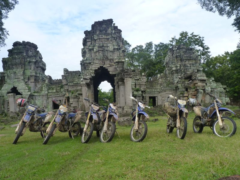 dancing roads cambodia ancient temple ruins motorbikes