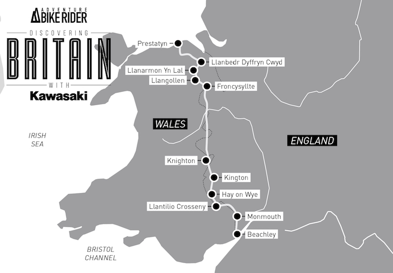 ABR and Kawasaki Offas Dyke Route Map