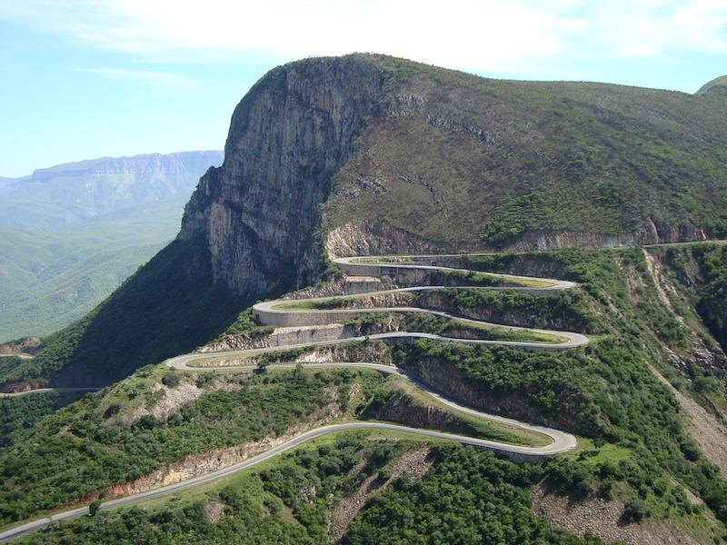 Serra de Leba mountain pass in Angola