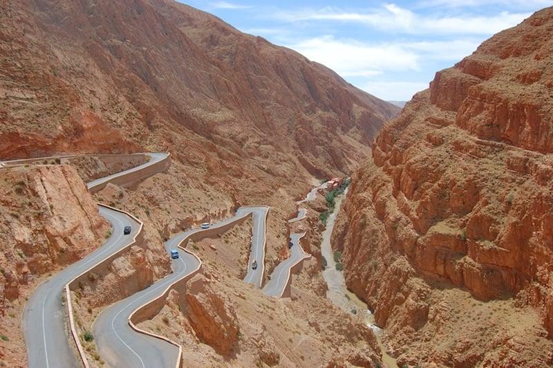 Atlas mountains trail riding in Morocco dades gorge
