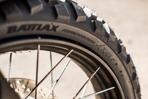 Close up image of Bridgestone Adventurecross tyres