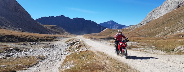 Colle del Sommeiller on a Ducati Multistrada