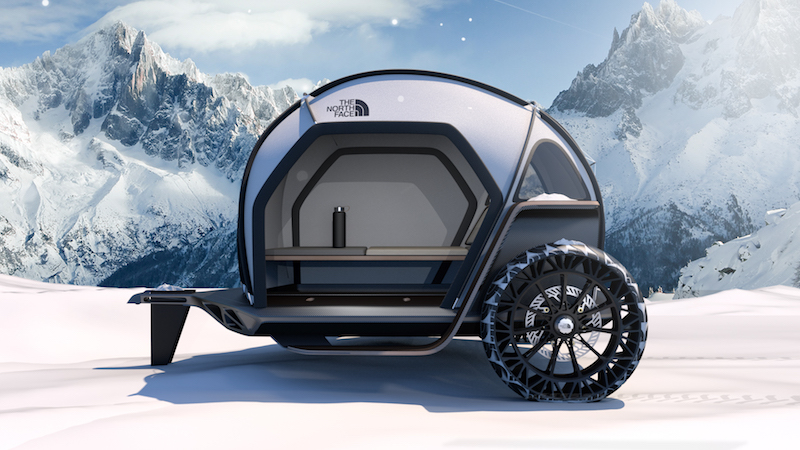 BMW and The North Face Futurelight Camper trailer tent.
