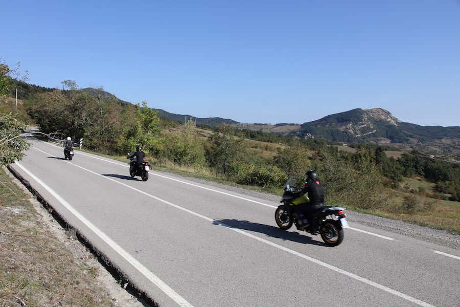 Motorcyclists on the Futa Pass