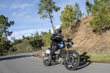 Triumph Scrambler 1200 on road