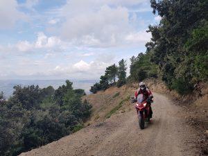 A Ducati on Supramonte in Sardinia