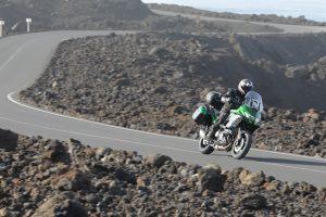 Kawasaki Versys 1000 SE on roads in Lanzarote