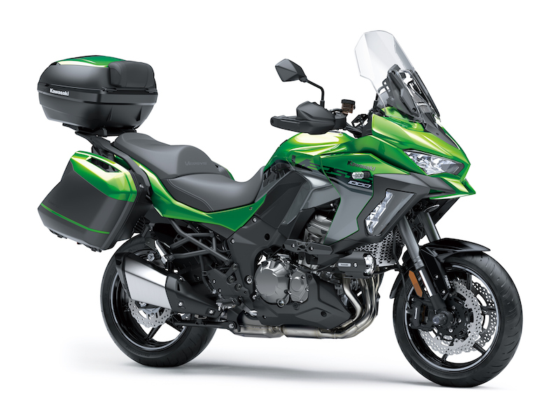 Stock image of the Kawasaki Versys 1000 SE in green