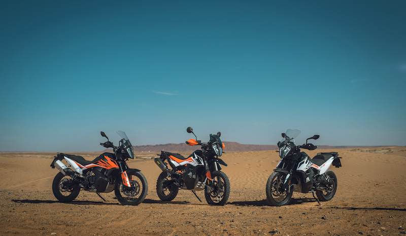 Three KTM 790 Adventures