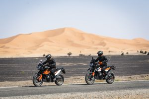 KTM 790 Adventure and Adventure R on the road