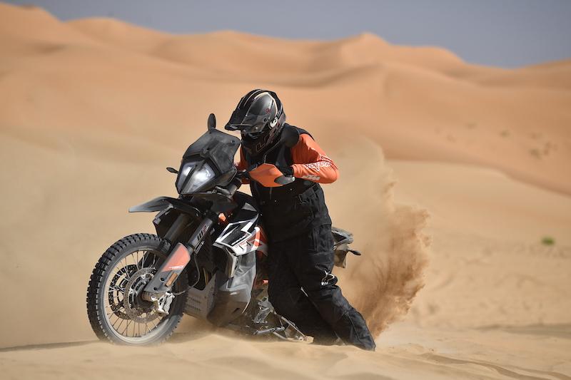 KTM 790 Adventure R in sand