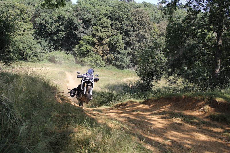 An Africa Twin on the enduro course at the ABR Festival 2018