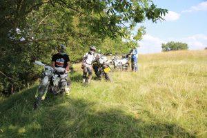 Riders in the sunshine at the adventure bike rider festival 2018