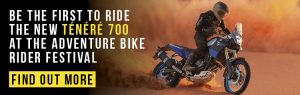 Ride the Yamaha Tenere 700 at the ABR Festival