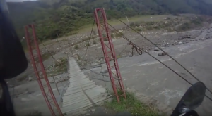 Motorcycle bridge crossing