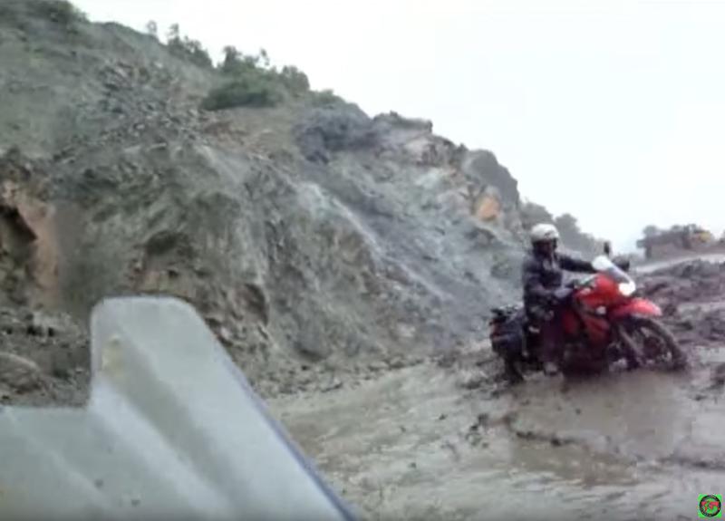 Motorcycle mudslide