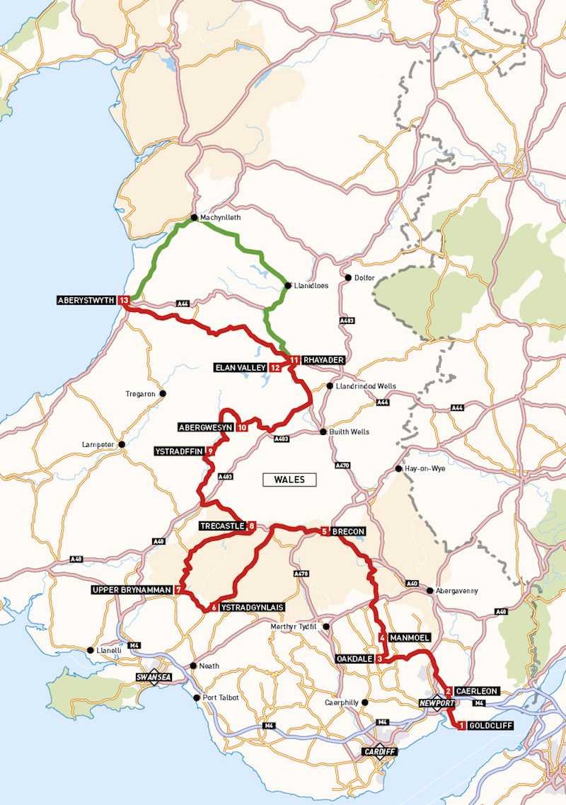 Motorcycle route in Wales