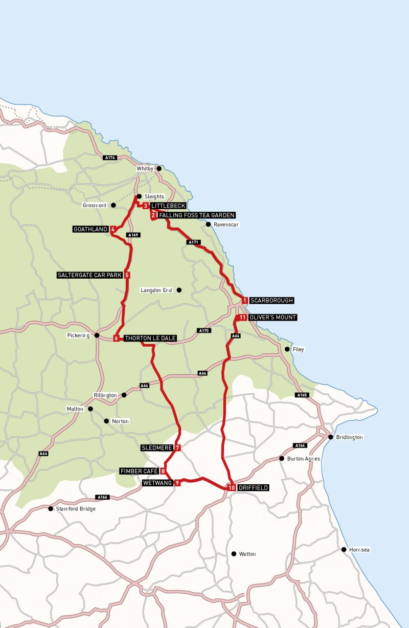 Motorcycle route in Yorkshire