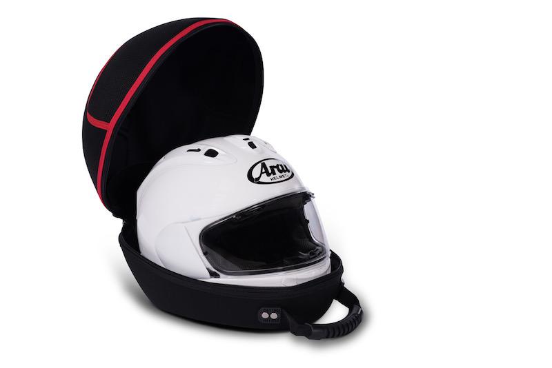 The free helmet bag on offer from Bridgestone