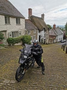 Motorcycle route in England