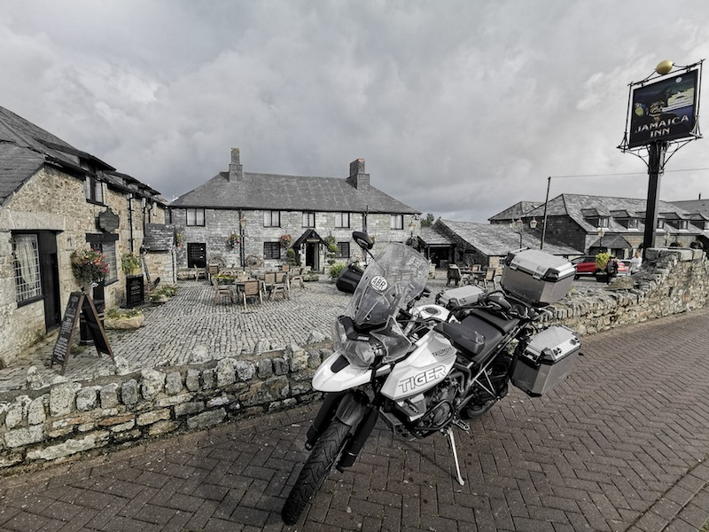 motorcycle route in Cornwall