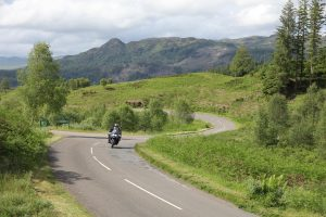 A weekend motorcycle route through the Cairngorms and South-East Scotland