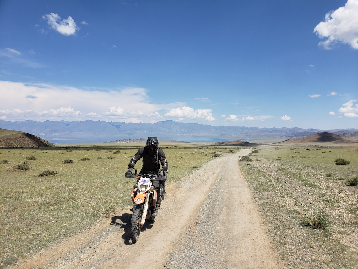 motorcycling in Mongolia