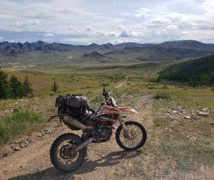 Crossing Mongolia on a dirt bike