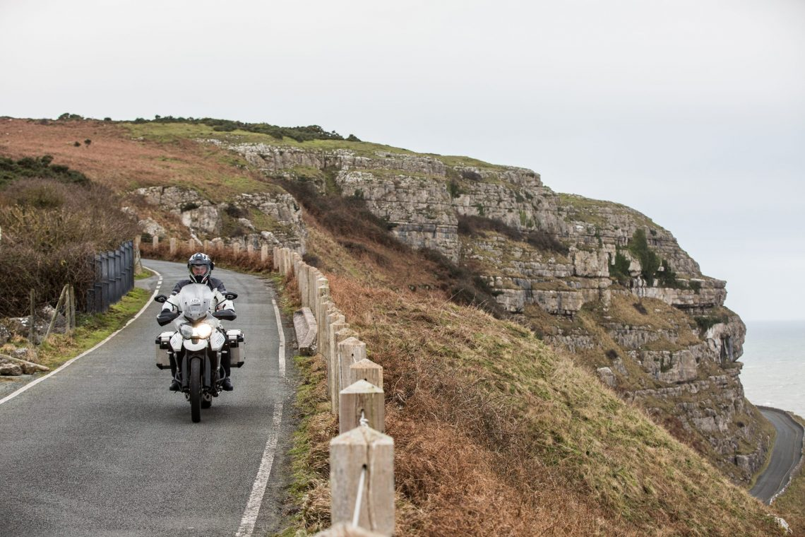 motorcycle route in north west wales