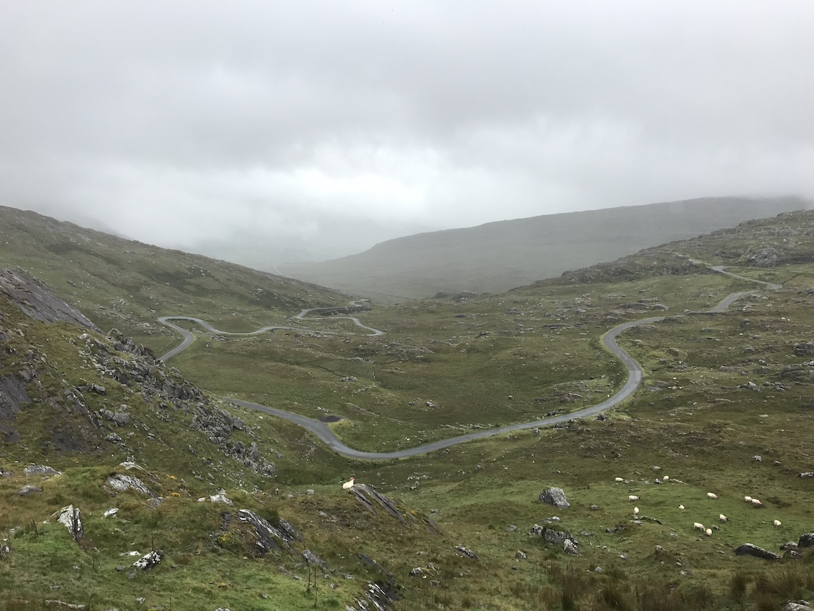 motorcycle route in south-west Ireland