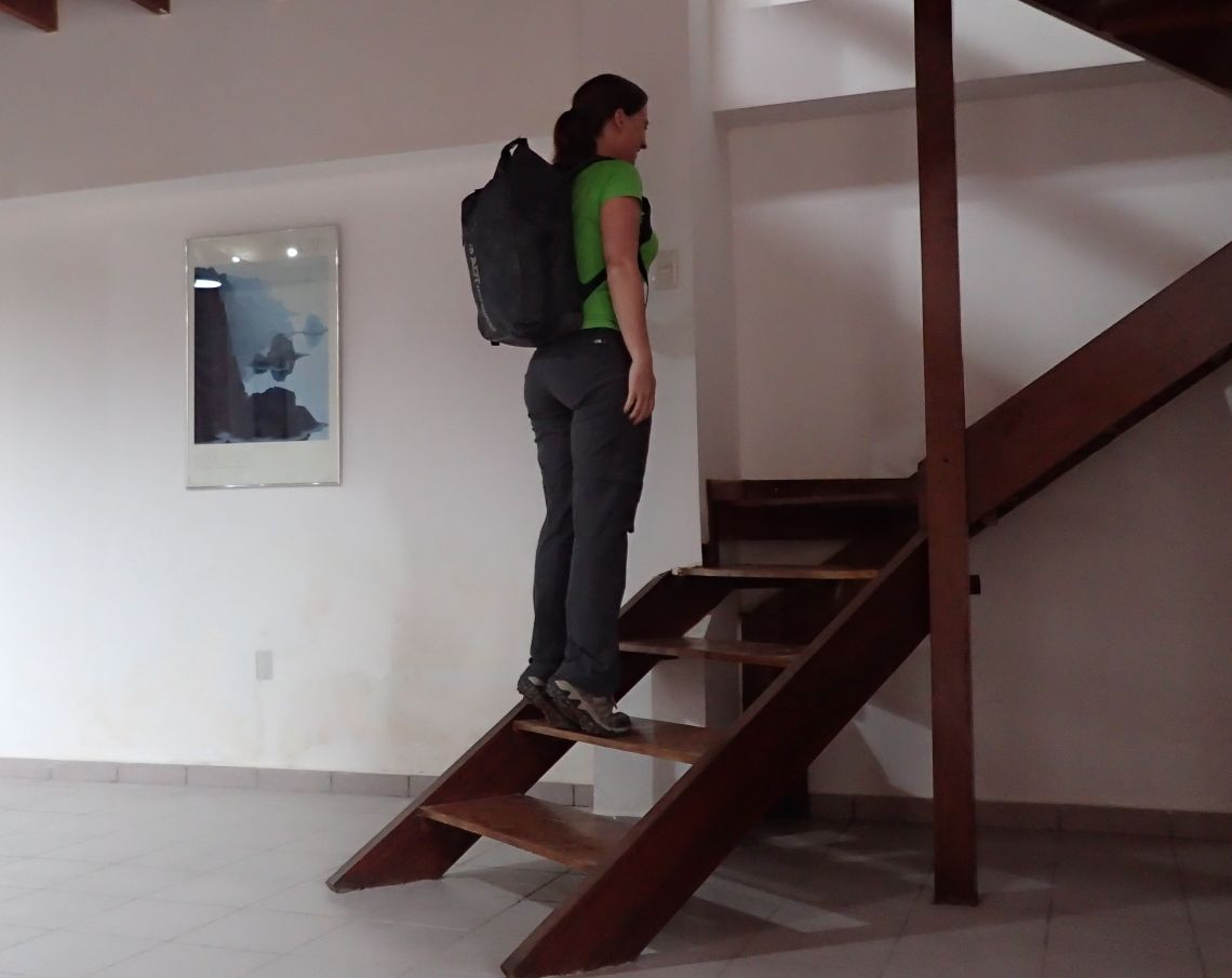 Achilles-Tendinopathy-exercises-double-leg-heel-raise-step-with-bag-lowering