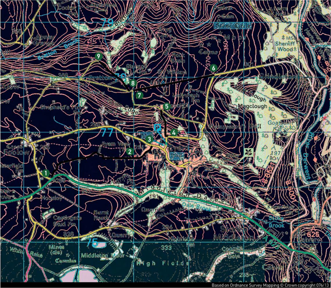 Eyam-Ordnace-survey-map