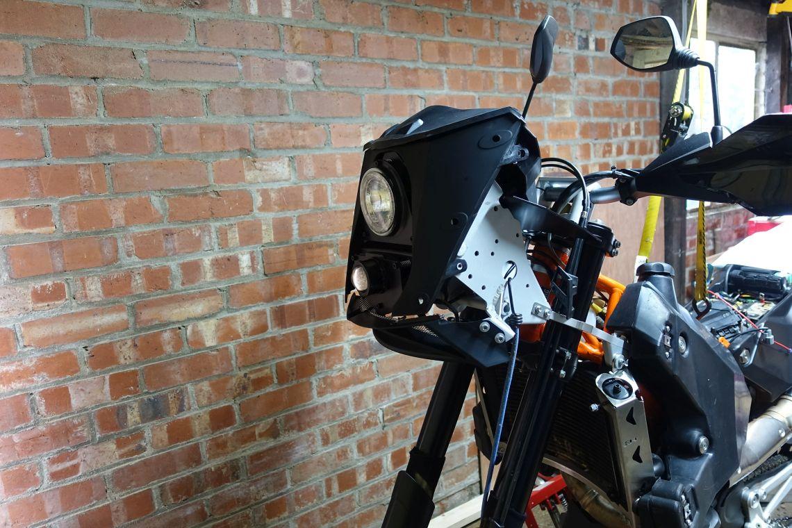 Fairing and Headlamp frame