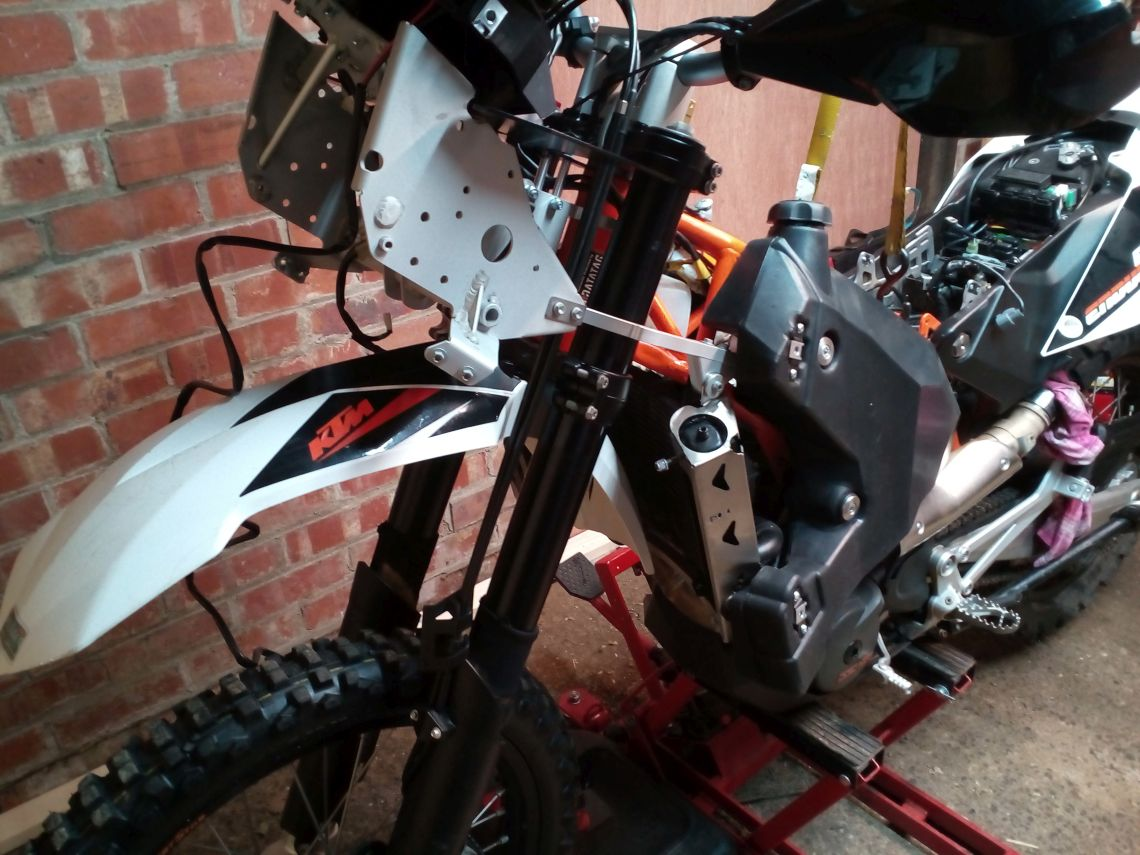 Fairing frame and radiator guard fittment