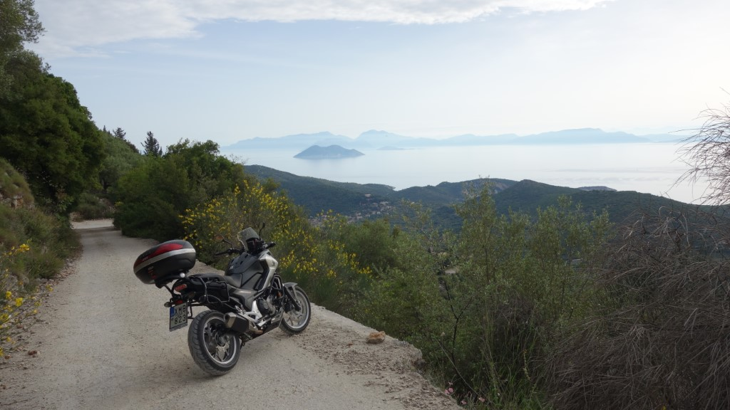 From Ithaca Island with Kefalonia Island in distance
