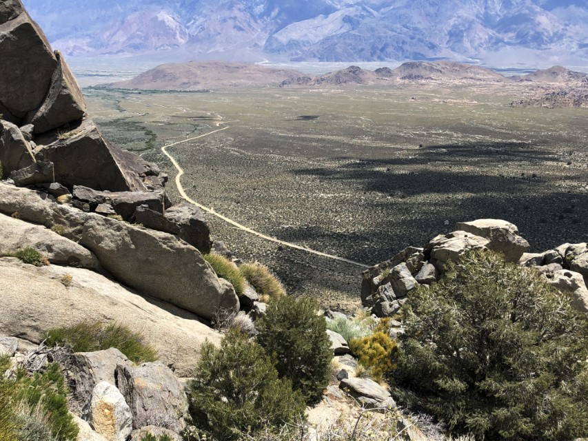 Owens valley with Alabama Hills in back