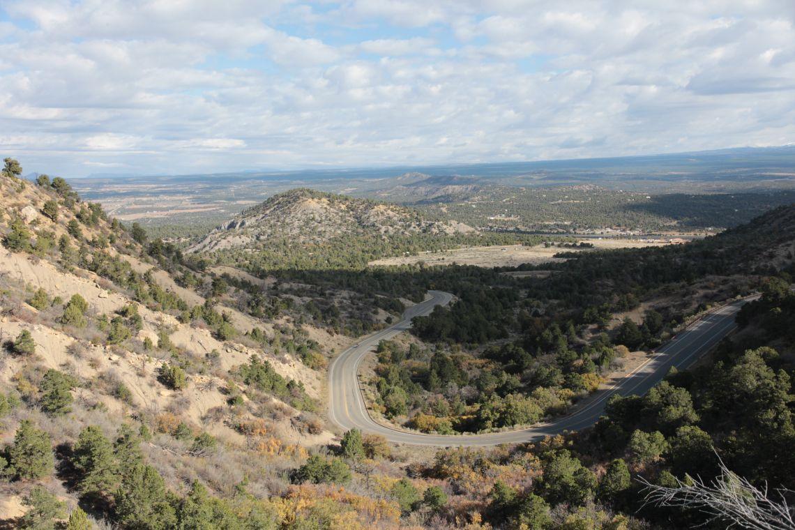 Road up to mesa verda