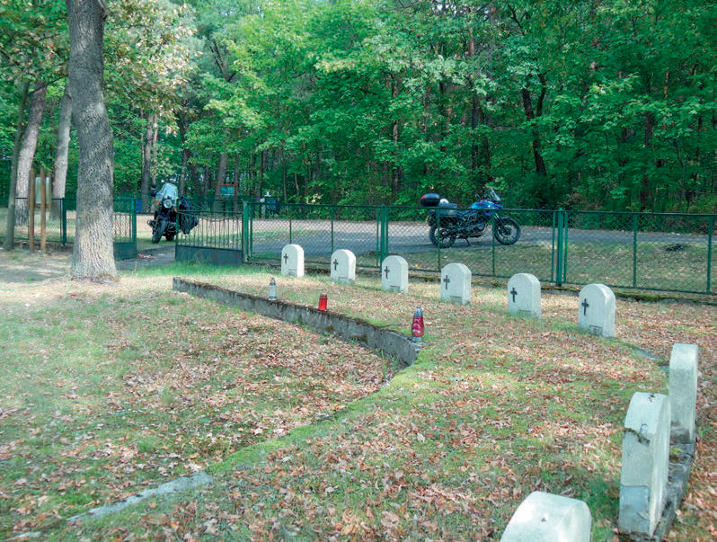 The Cemetery next to the camp