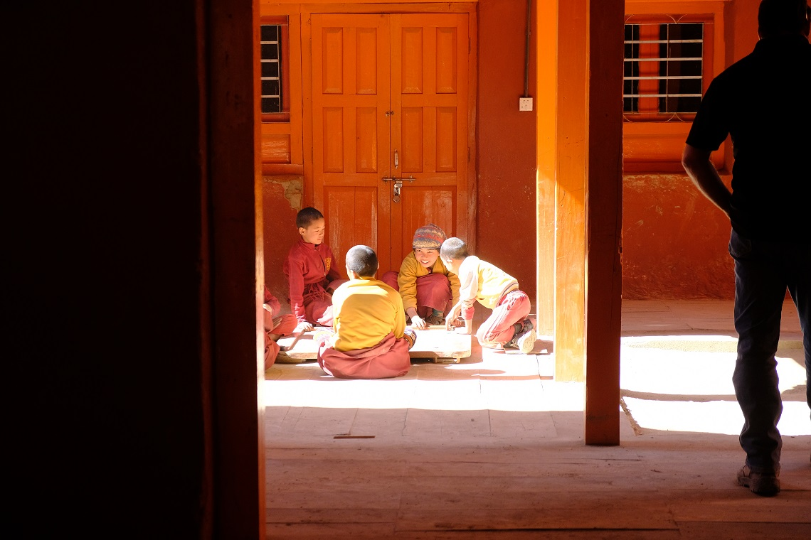 Trainee monks in Lo Manthang