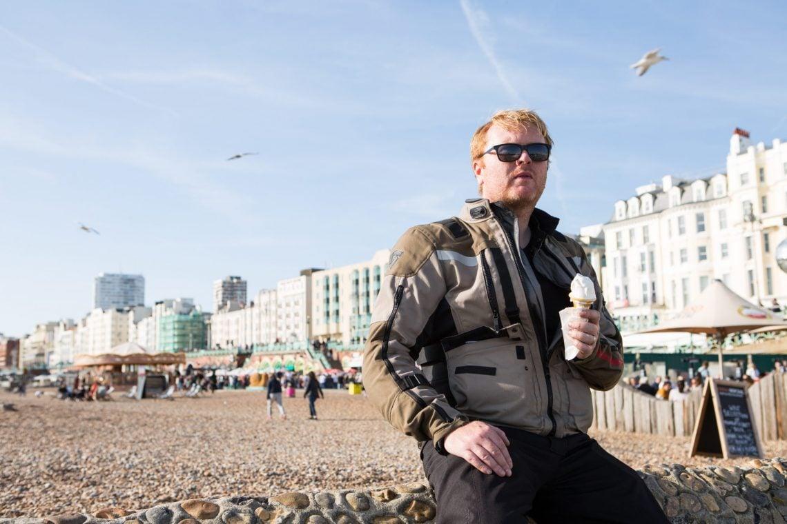 When on Brighton beach