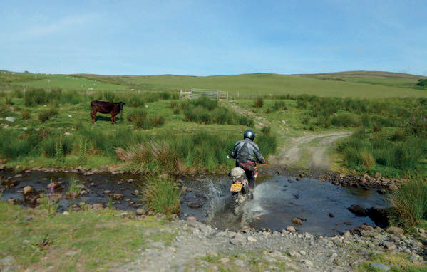 navigating a rocky water crossing