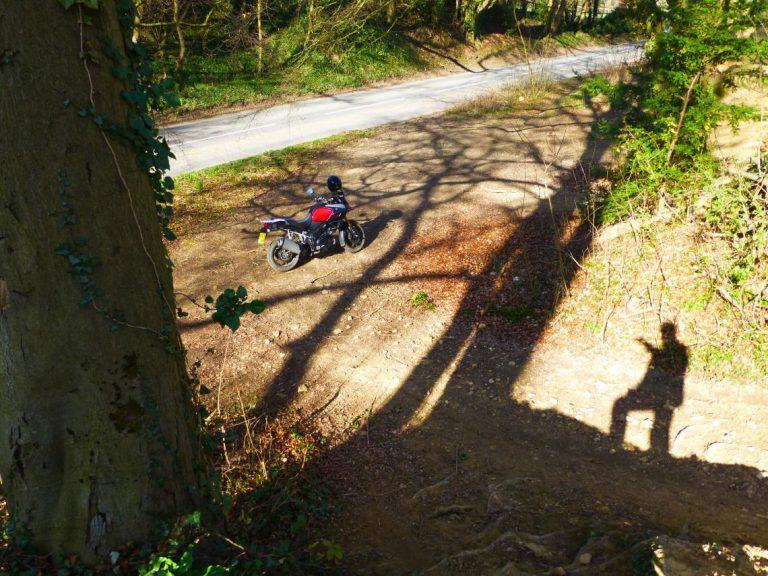 A bike in the shadows