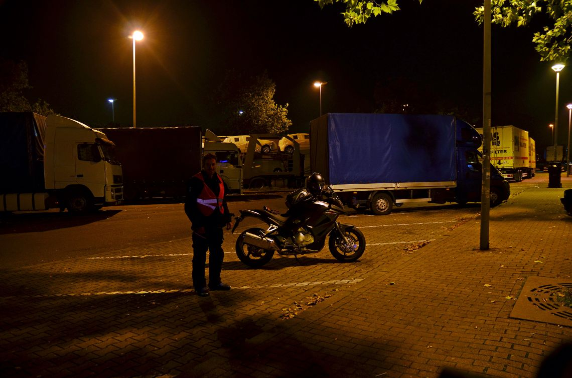A late night rest stop in Germany