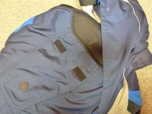 BMW rear air mesh and hydration pocket