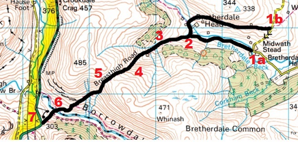 Breast High Route